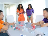 Strip Poker Stroke Her Daughter Swap