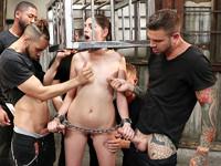 Horny Lil Sex Slave Bound Gangbangs