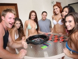 Group of Teens Playing Naked by the Pool Clip 1 at Spicy Roulette