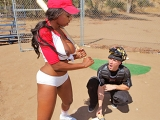 Catcher Cum Big Tits in Sports