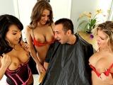 Asas Titty Hair Salon at Big Tits at Work