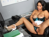 Business Woman Fucks Boss Big Tits at Work