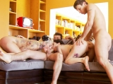 Couch Foursome Burning Angel