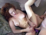 Redhead Stretching her Tight Ass Raw Banging