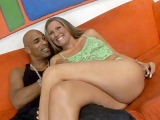 Sexy Blonde Seducing a Black Guy Interracial Sex House