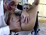 Sexy Blonde Nurse Enjoy Pussy Spreading Clinic Fuck