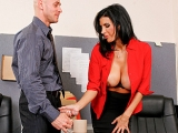 big tits brunette deep throat facial milf office stockings Big Tits at Work