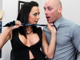 blowjob brunette deep throat facial titty fuck high heels stockings Big Tits at Work