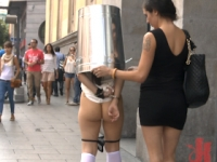 Exposed in Madrid Public Disgrace
