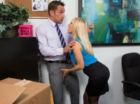 Ashley Fires with Johnny Naughty Office
