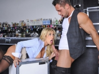 Capri Cavanni with Johnny Naughty Office
