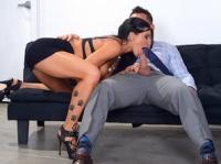 Romi Rain with Johnny Naughty Office