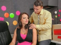 Kayla West and Pete Naughty Office