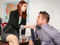 Bree Daniels and Johnny Naughty Office