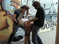 Latin Babe Yoha at Public Disgrace