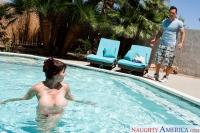 Topless Swim Neighbor Affair