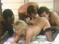Interracial Foursome Retro Raw