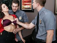 Fucking with Security Big Tits at Work
