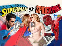 Superman vs Spiderman Vivid