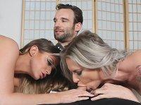 Hot Threesome Brooklyn Chase