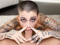 Tattooed Slut versus Hard Cock Throated