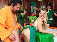 Pounded on St Pattys Teens Love Huge Cocks